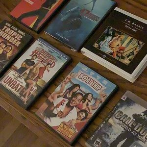 7 games,movies,and books.